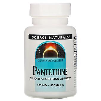 Source Naturals, Panethine, 300 mg, 90 comprimés