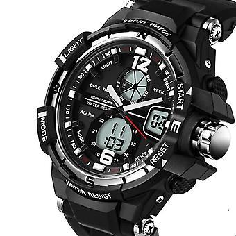 Męski i dwueklekowy zegarek elektroniczny