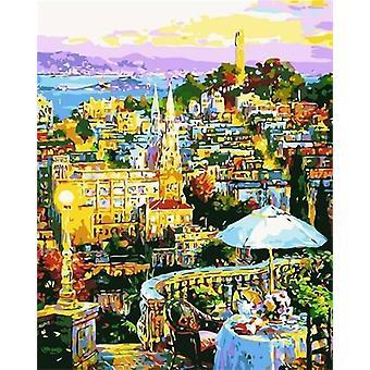 Venice City Painting By Numbers Pictures Kit - Dessin Toile peint à la main