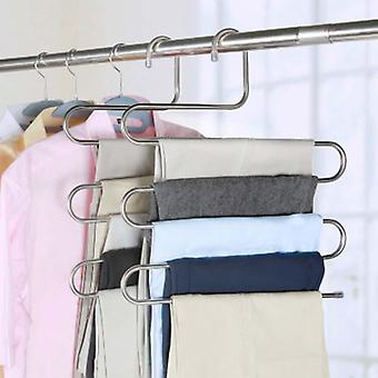 5 Layers S Shape Multifunctional Clothes Hangers - Pants Storage Hangers Cloth Rack Multilayer Storage Cloth Hanger