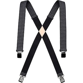 Arcade Jessup Trouser Braces in Zwart/Houndstooth
