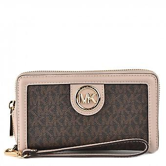 MICHAEL Michael Kors Samira Lg Flat Multifonctional Phone Case Brown