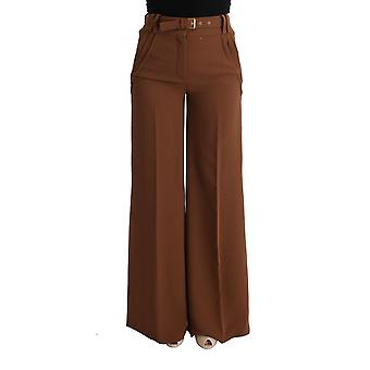 Cavalli Brown Polyester Boot Cut Pants SIG32422-2