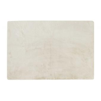 Luxe Faux Rabbit Fur Rectangular Rug 5' X 8'  - Ivory