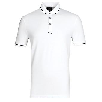 Armani Exchange camisa polo branca derrubada