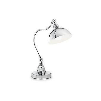 1 Lichte tafellamp antieke messing, E27