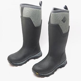 Muck Boots Arctic Ice Tall Ladies Rubber Wellington Boots Black/grey
