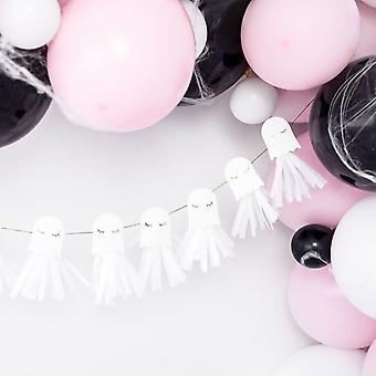 Halloween Party Ghost Paper Garland Decoration 1.3m