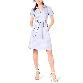 Nanette Lepore | Striped Belted Shirtdress