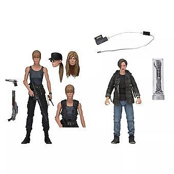 NECA Terminator 2 Sarah Connor et John Connor 2- Pack 7 pouces Échelle Figurines d'action