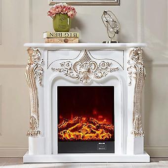 ديكور الموقد مجموعة خشبية رجتل W100cm صندوق النار الكهربائية إدراج غرفة الموقد أكثر دفئا الصمام البصرية deocration اللهب