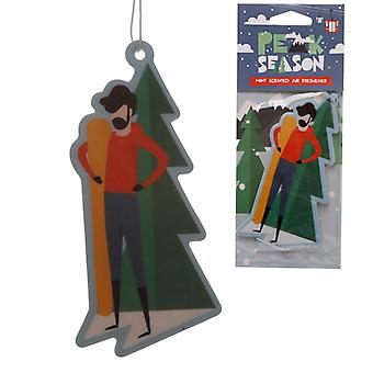 Snowboarder Mint Scented Air Freshener X 1 Pack