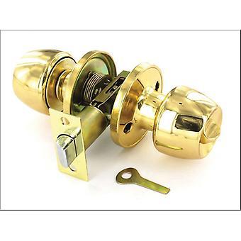 Securit Privacy Knob Set Brass 60/70mm S2951