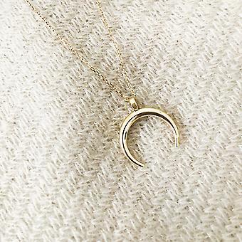 الذهب نصف القمر تصميم قلادة