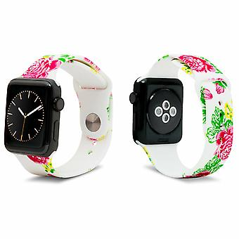 iWatch Siliconen Sportband met Rose 42mm Print