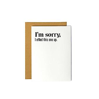 I'm Sorry-sympathy Greeting Card
