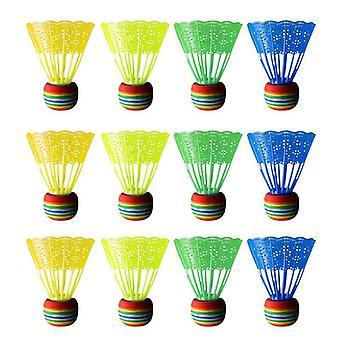 Badminton Rainbow Ball Head Nylon Badminton Feathers For Game Sport