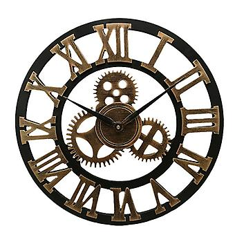 Industrial Gear Wall Clock, Decorative Retro Mdl, Age Style Room Decoration,