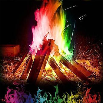 السحر النار الحيل باطني ملونة اللهب مسحوق النار كسحرة الكيس