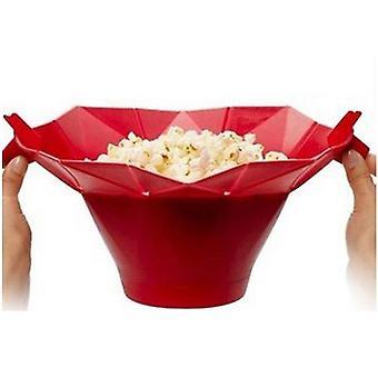 Popcorn Popper hausgemachte leckere Schüssel Backen Küche Eimer (rot)