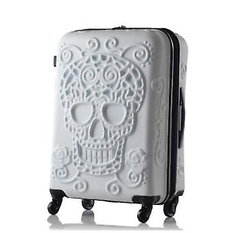 Travel Tale Skull Travel Luggage Bag Carry On Kinder Trolley Suitcase On Wheels