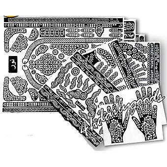 Temporary Tattoo Stencil Professional - New Painting Kit Supplies