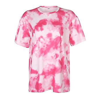Tie Dye Print Basic Tshirt Shorts Two Piece Set Women Casual Outfits Lounge