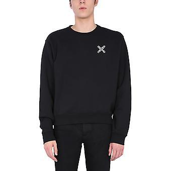 Kenzo Fa65sw0014ms99 Sweat-shirt en coton noir Homme&s