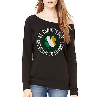 Humor Get Ready To Stumble Women's Black Sweatshirt
