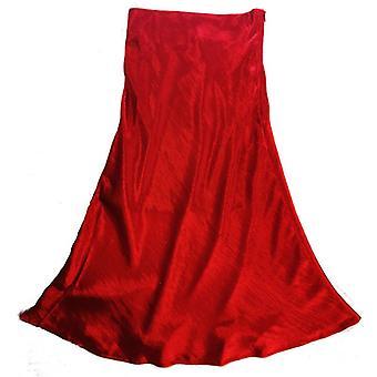 Summer Satin Trumpet High Waist Silk Metallic Party Skirt