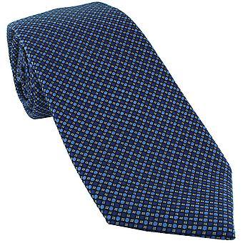 Michelsons von London vibrant Spot Seide Krawatte - blau