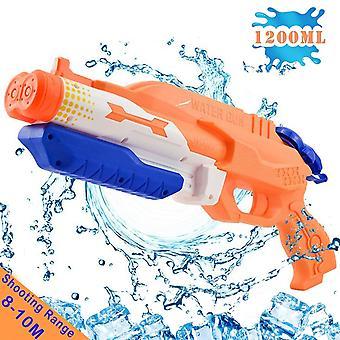 Addmos Wasserpistole mit 2 Düsen, Super-Wasserpistole Soaker Blaster mit 1200ml große Kapazität, Pumpe