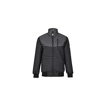 KAM Jeanswear Contrast Panel Quilted Jacket