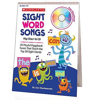 Scholastic Sight Word Songs Flip Chart & Cd