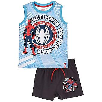Fiúk Marvel Spiderman Sleeveless T-shirtVest Top & rövidnadrág szett