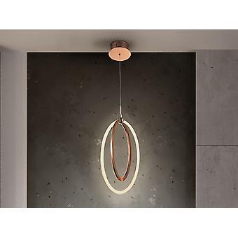 Schuller Ocellis - Luz pendente led integrada, ouro rosa
