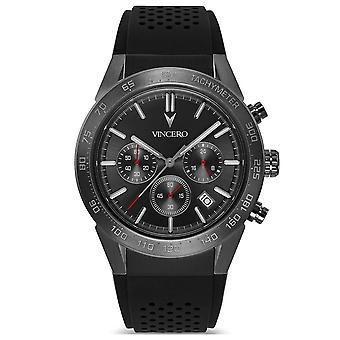Vincero Gras-bla-x12 Rogue Black & Gunmetal Grey Silicone Men's Watch