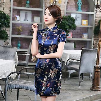 Frauen Sexy Slim High Slit MiniKleid