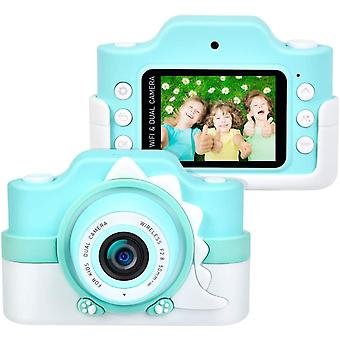 "Wokex Kinderkamera WiFi 2 Objektive 24 MP HD 2.0"" IPS-Bildschirm mit Aufklebern und Cartoon"