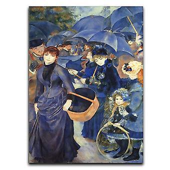 El lienzo de los paraguas