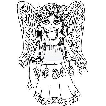 Polkadoodles klar stempel - Angel Peace A6