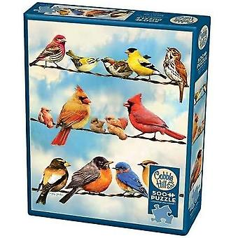Mukulakivimäen palapeli - linnut langalla - 500 kpl