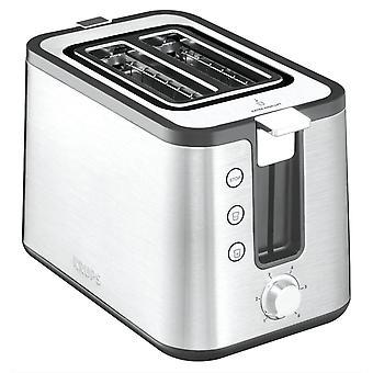 KH442D Control Line Premium Toaster, Edelstahl, 2-Schlitz Toaster, Brtchenaufsatz silber/schwarz