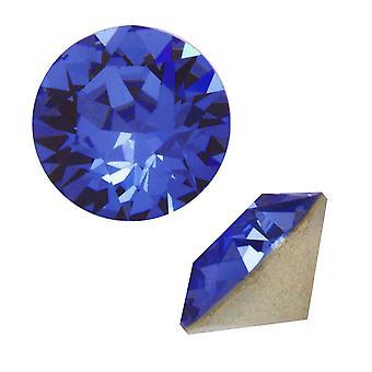 Swarovski Kristall, #1088 Xirius Round Stone Chatons pp32, 24 Stück, Saphir F