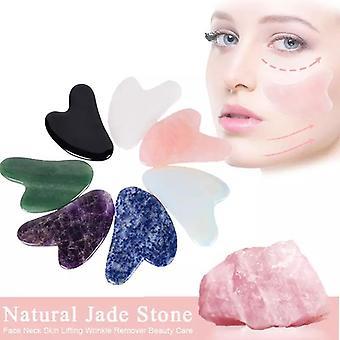 Natürliche Gua Sha Jade Rose Quarz Stein Gesicht Board Werkzeug -