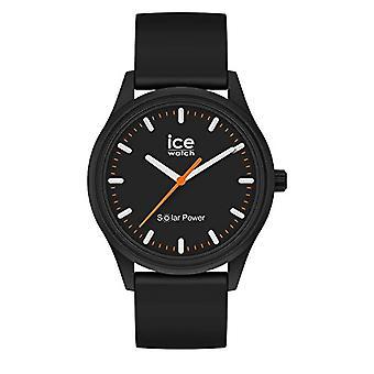 Ice-Watch - آيس سولار باور روك - ساعة للجنسين مع حزام السيليكون - 017764 والمتوسط والأسود