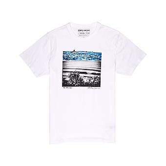 Billabong azul sueño camiseta de manga corta en blanco