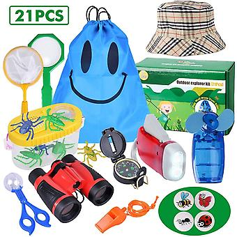 FengChun Outdoor Explorer Kit - 21 Pack Kinder Bug Catcher Spielzeug Geschenke für 8 + Jahre alt jungen Mädchen