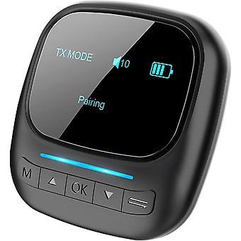 Visible Bluetooth 5.0-Senderempfänger für TV-PC, 2-in-1-OLED-Bildschirm Drahtloser