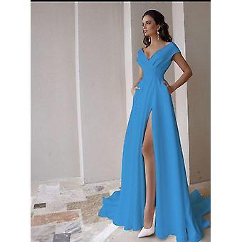 فستان زفاف متواضع من رقبة V ( Set 3)